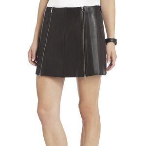 BCBGMAXAZRIA Myra Leather Zipper Skirt